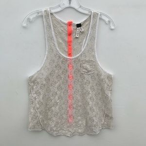 Free People We The Free Lace Sheer Tank Top #839